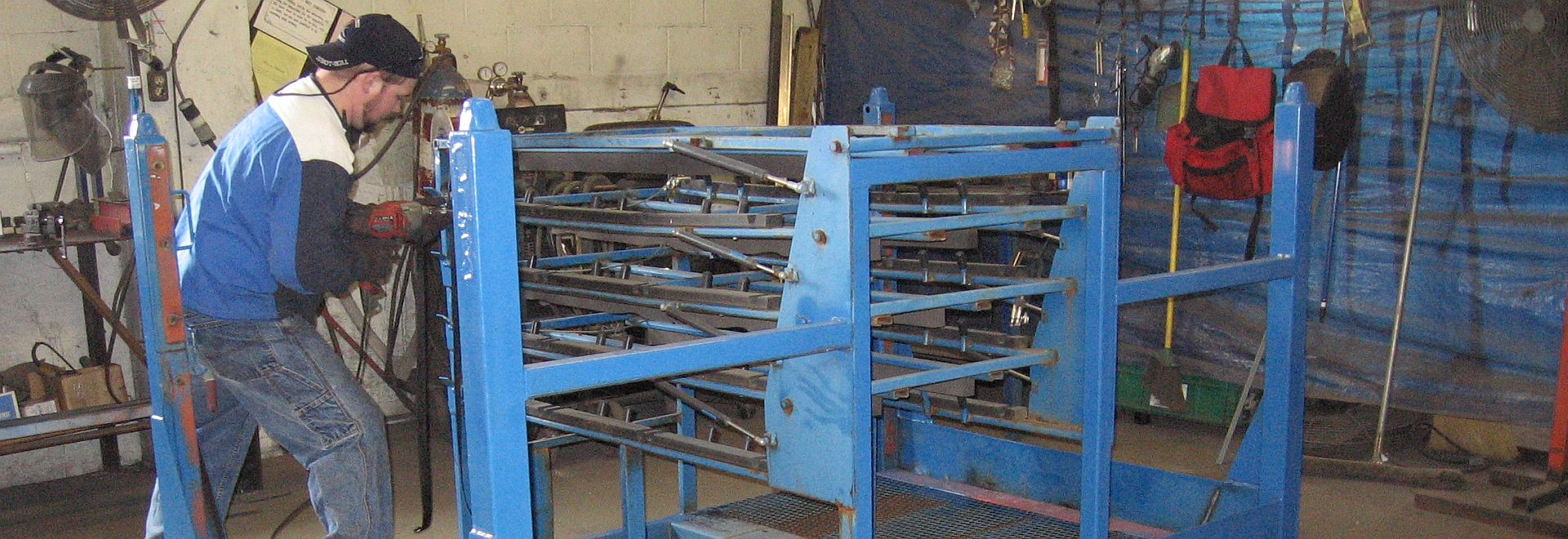 Hays Fabricating can repair your returnable shipping racks, baskets and carts at a far cheaper price than replacing them.